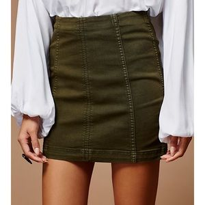 Free people skirt in olive size 10!!